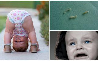 Symptome und Behandlung von Madenwürmern bei einem Kind