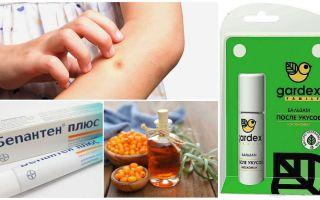 Geschäft und Volksmedizin für Mückenstiche und Blackflies
