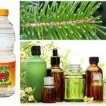 Ätherische Öle, Nadeln und Essig