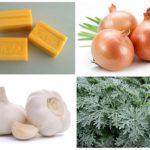 Waschseife, Zwiebel, Knoblauch und Wermut